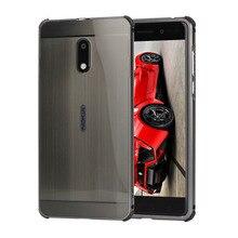 Матовый чехол для Nokia 6 Чехол PC задняя крышка металлический каркас телефон Coque Fundas для Nokia6