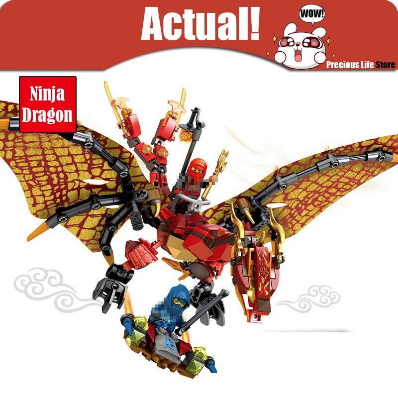 где купить Classic 6 style Ninja Flying Mech Dragon Building Blocks Bricks Figures Educational Enlighten Toys For Children Birthday Gift по лучшей цене