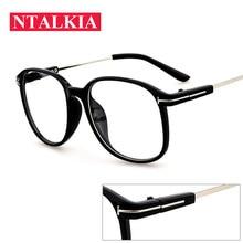 043d8d7e8c2 Fashion Big Square Glasses Frame For Women Men PC Computer Eyeglasses clear  lens Retro Black Eyewear