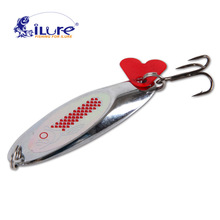 iLure fishing bait spoon jig 7g 12g 15g 20g Artificial bait metal spinner bait sequins paillette fishing tackle with spring hook