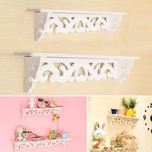 White Wood+plastic curved wall shelf holder storage stand cut out design wall shelf home decor 46*9cm