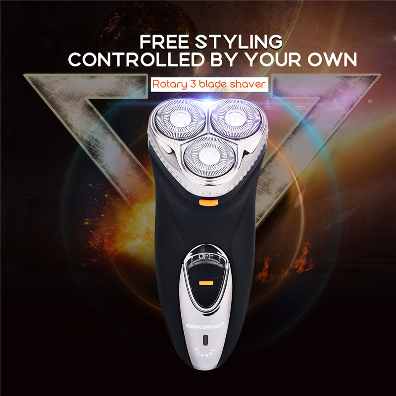Rechargeable Rotary Men's Electric Shaver Razor 3D Floating Heads Hair Removal shaving Machine with pop-up sideburns Trimmer S50 men s rechargeable electric shaver 3d floating blades rotary electronic shaving machine for man quick charge hair trimmer care