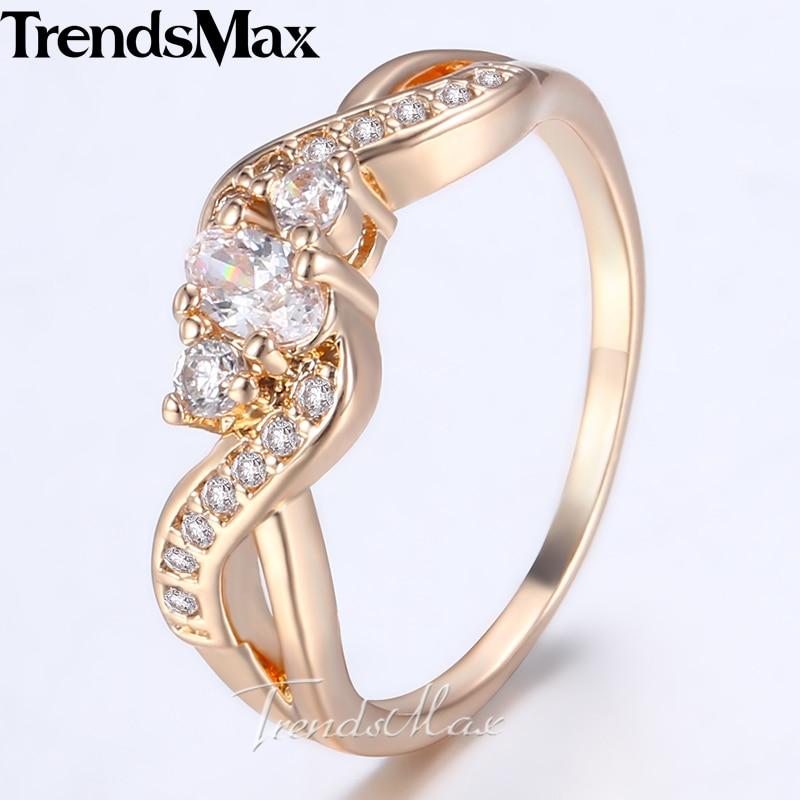4450681fba68 € 3.14 31% de DESCUENTO|Cinta de claro Cubic Zircon mujeres 585 anillo de  compromiso de oro rosa anillo de boda regalo para las mujeres mujer novia  ...