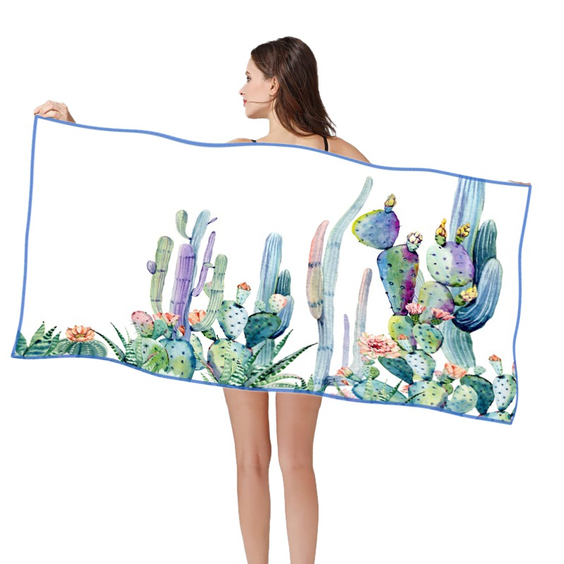 SERIES 5 160*80cm 3D HD Printed Beach Swimming Towel Quik Dry Microfiber Fabric Sand Free Multifuntion Beach Towels
