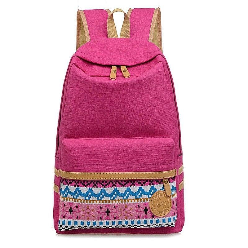 effe9b7dc3f US $18.0 |Canvas Printing Backpack Women Cute School Backpacks for Teenage  Girls Vintage Laptop Bag Rucksack Bagpack girls Schoolbag-in School Bags ...