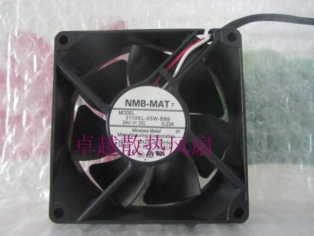 Original 3110kl 05w b89 nmb mat 80 25mm 24v 0.23 frequency converter ventilation fan