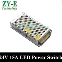 360W 24V 15A Power Supplies Switching Power Supply Driver For LED Strip Light Display AC110V 240V