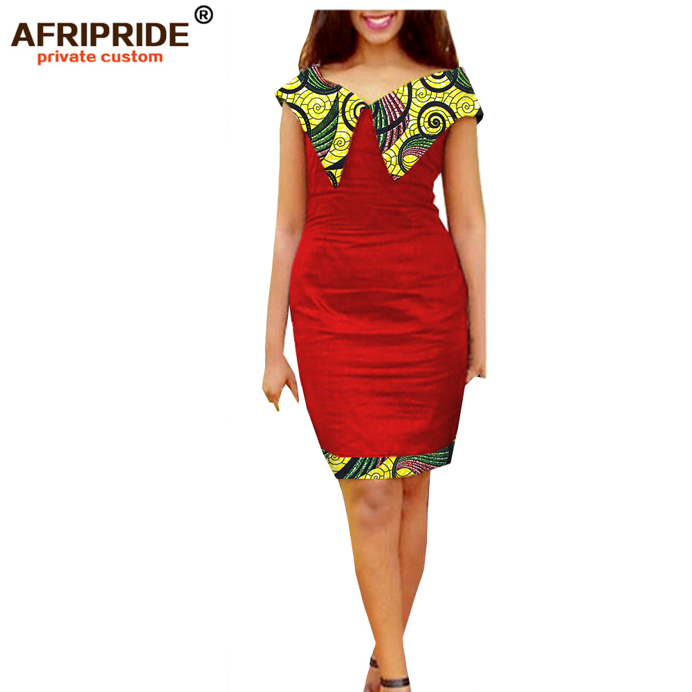 2019 african Autumn women dress AFRIPRIDE private custom long sailor collar midi dress super batik cotton