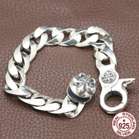 100% S925 sterling silver bracelet personality sleek minimalist retro jewelry domineering anchor shape to send a gift of love