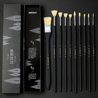 BGLN 12Pcs/set Bristle Hair Oil Paint Brush Set With Exquisite Box Oil Acrylic Watercolor Painting For Drawing Art Supplies