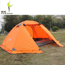 Camping tent 2 person 3 Beach 4 seasons waterproof outdoor recreat fishing camping equipment Snow skirt FLYTOP Tourist tents