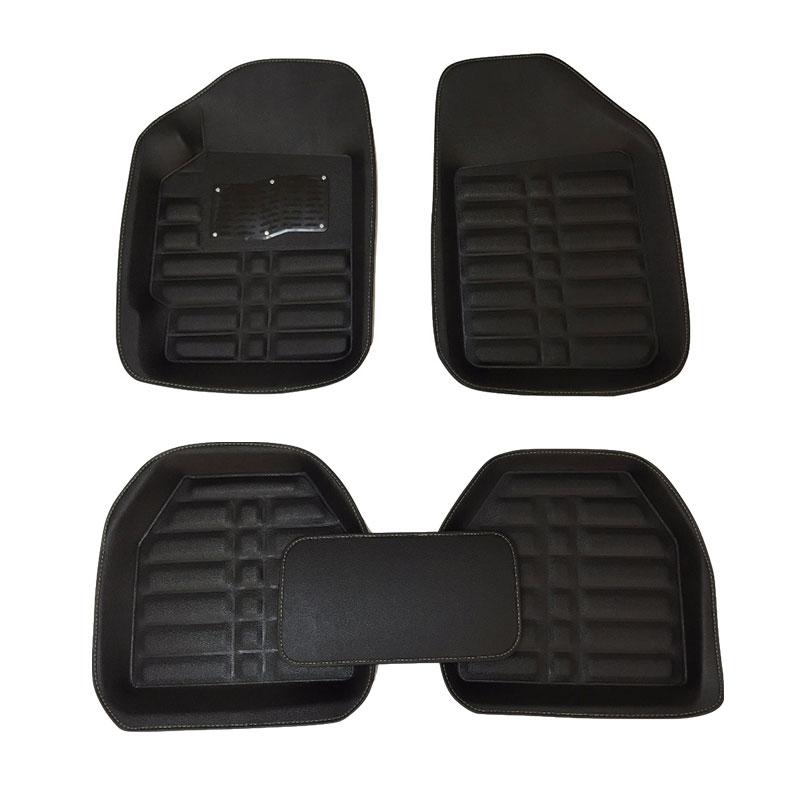 UNIVERSAL CARPET CAR FLOOR MATS BLACK TRIM SET OF 4 SEAT LEON FR 06-