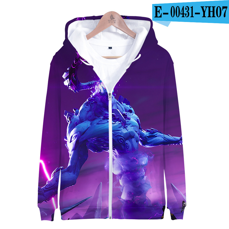 Fortnit Battle Royale Zipper Sweatshirt 3D Print Sweatshirt Kids Game Clothes Children Battle Royale Clothes Kid Clothes Funny