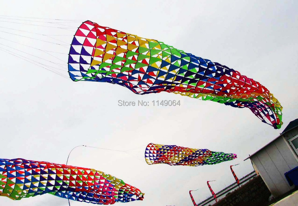Livraison gratuite haute qualité 5m windchaussette cerf-volant grand cerf-volant weifang chinois cerf-volant dragon volant hcxkite usine ripstop nylon tissu