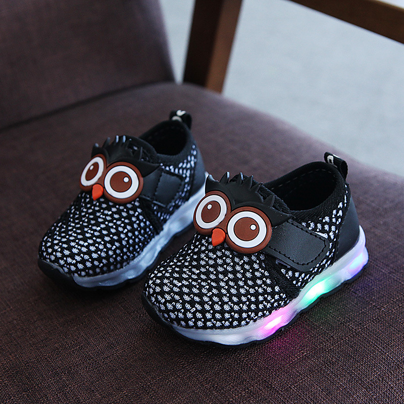 LED Shoes Cute Owl Kids Shoes Glowing Sneakers Light Up Baby Girls Boys  Casual Shoes Children Sport Shoes tenis infantil led ddc631df3ae9