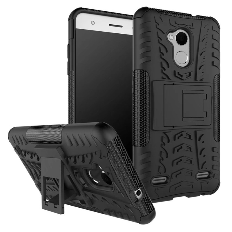 Heavy Duty Armor Case Cover for ZTE Blade A510 V6 Plus A2 V7 Lite L110 L5 Hybrid TPU PC Armor KickStand Case Cover Coque Fundas