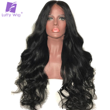 Luffy Body Wave Glueless Lace Front Wig Human Hair With Baby Hair Brazilian Non Remy Hair Pre Plucked Hairline Bleached Knots