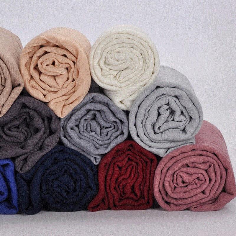 Women Warm Scarves Soft TR Cotton Scarves Retro Tassels Solid Color Shawls Female Thin Wraps Hijab Beach Holiday Scarf Female