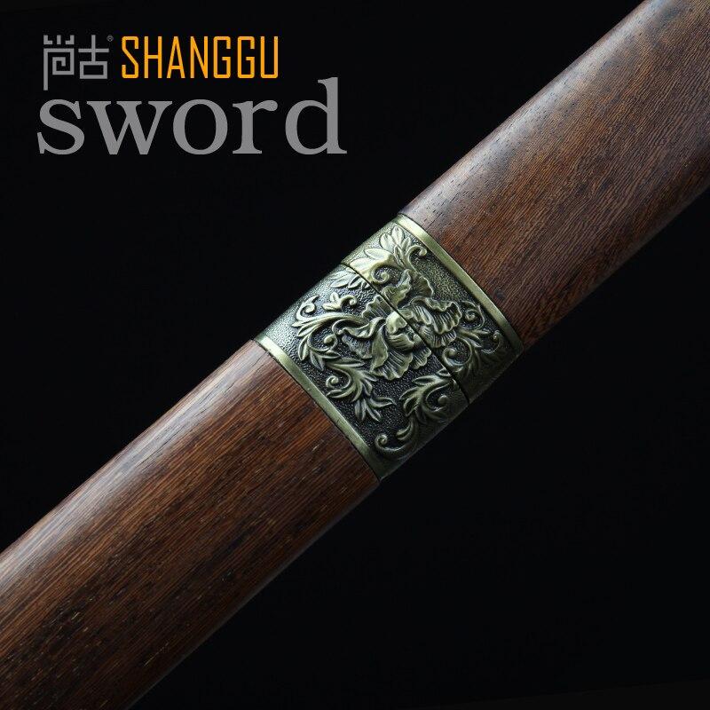Samuray Qılıncı ilə yüklənmiş 20 düymlük Peony Naxış Tunc, - Ev dekoru - Fotoqrafiya 2