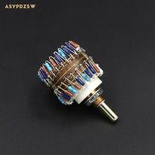 23 Étape ronde poignée stepping potentiomètre 10 K/50 K/100 K (2 Canal) amplificateur de Puissance Volume potentiomètre