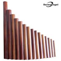 Pan Flute 15 Pipes Natural Bamboo Wind Instrument Panpipe G Key Flauta Xiao Handmade Panflute Flauta