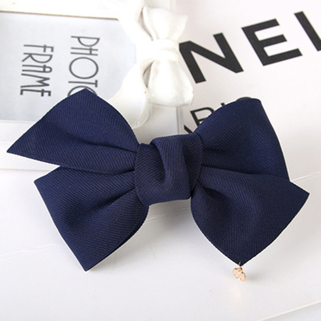 New Fashion 2017 New Arrival Big Solid Cloth Bows Hair Clips Hairpins Hair Accessories for Women Girl Wedding Hair Jewelry 5