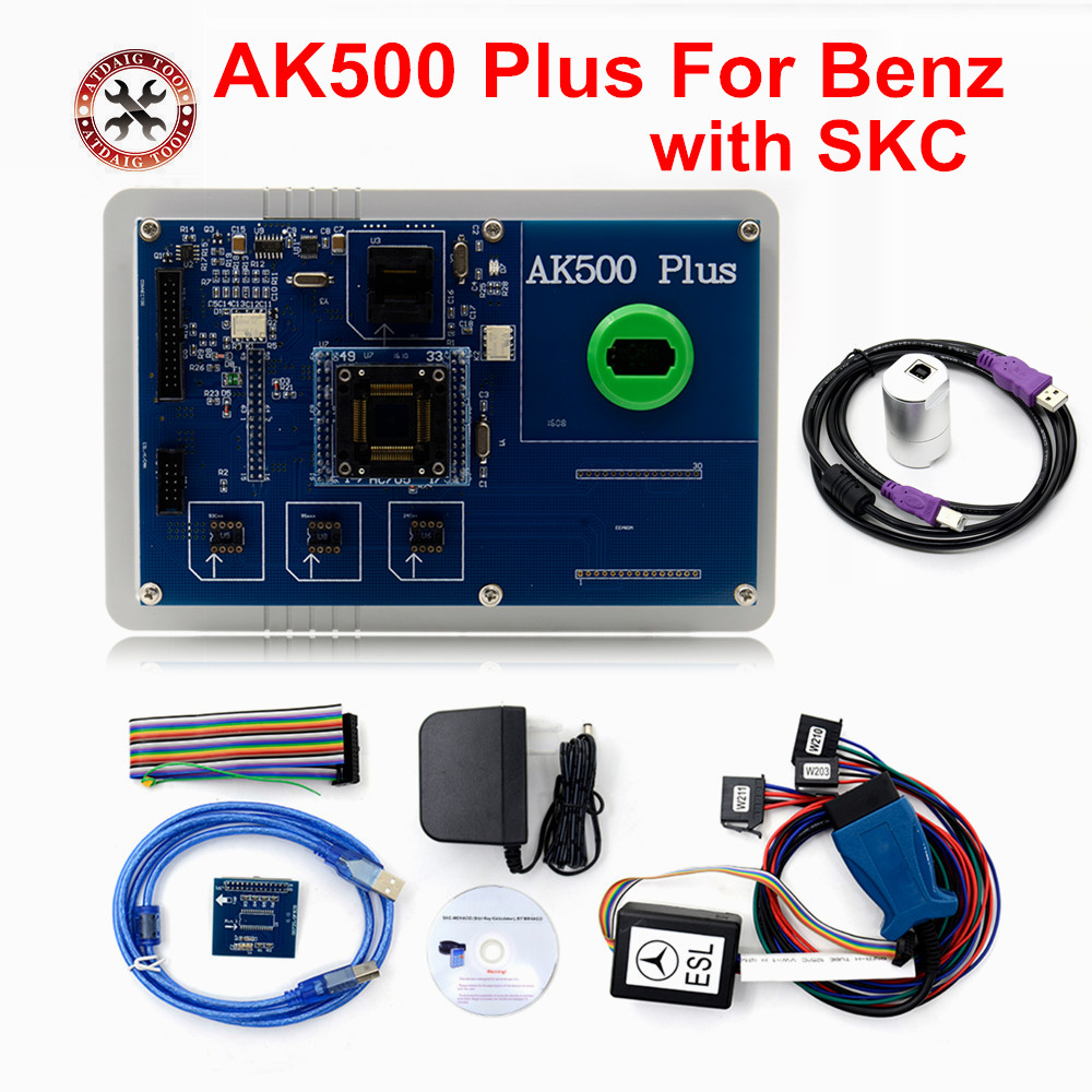 Professional AK500 Pro New Released AK500+ Auto Key Programmer With EIS SKC Calculator With Database Hard Disk DHL Shipping