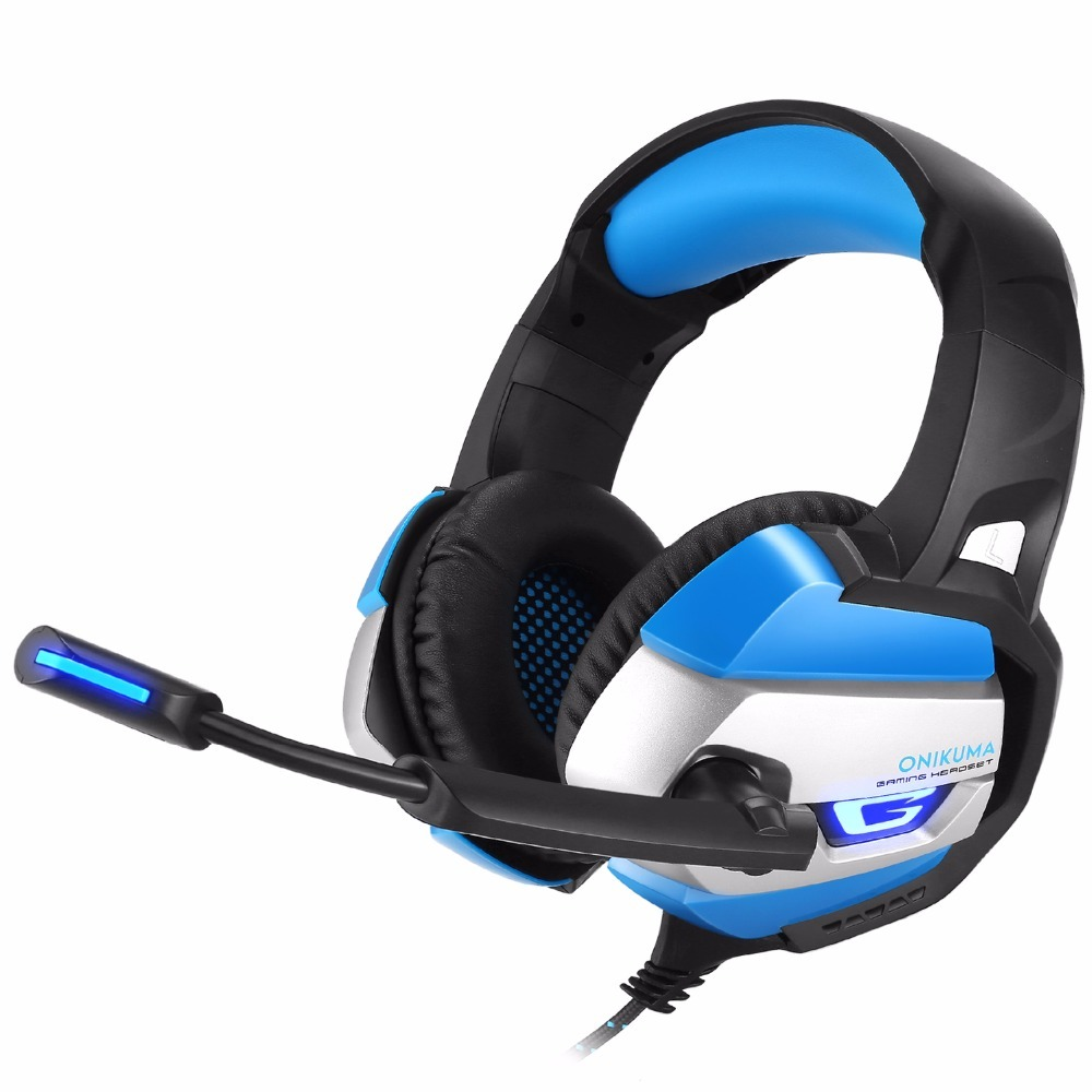 Best Gaming Headset ONIKUMA K5 Gamer Casque Deep Bass Gaming Headphones For Computer PC PS4 Laptop Notebook With Microphone LED salar c13 wired gaming headset deep bass game headphones best casque gamer with mic led light headphone for computer pc gamer