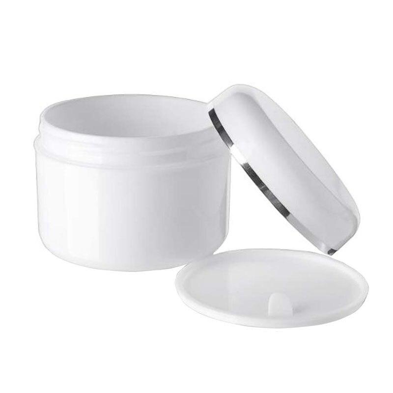 Image 5 - 30Pcs 30g 50g 100g 250g Cream Jar,White Plastic Makeup Container,PP Sample Cosmetics Box,Empty Mask Canister Refillable BottlesRefillable Bottles   -