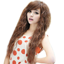 Womens Fashion Sexy long Full Curly Wavy Hair Wigs Cosplay Party Dress Synthetic Hair HB88