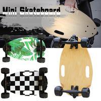 Hand held Portable Four Wheels Maple Mini Fish Skateboard Bettle