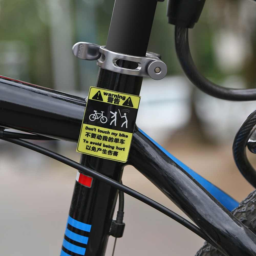 Dont touch my bike reflective bicycle sticker safety night riding waterproof decorative decal riding sticker bike
