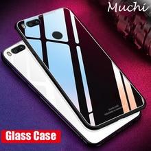 MUCHI For Xiaomi Mi A1 Case Tempered Glass Cover Back Soft Silicone Frame Luxury Phone Coque for Xiaomi Mi 5X Mi5X