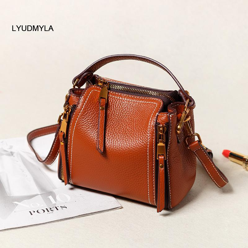 Lyudmyla Genuine Leather Bucket Bag Designer Handbags High Quality Small Crossbody Bags For Women 2017 Lady  Bolsa Feminina купить