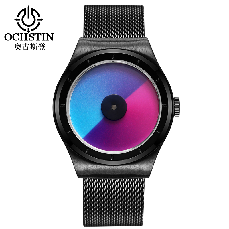 Creative Quartz Watches Men Top Luxury Brand Casual Stainless steel Mesh Band Unisex LED Watch Girls Clock Male female gift