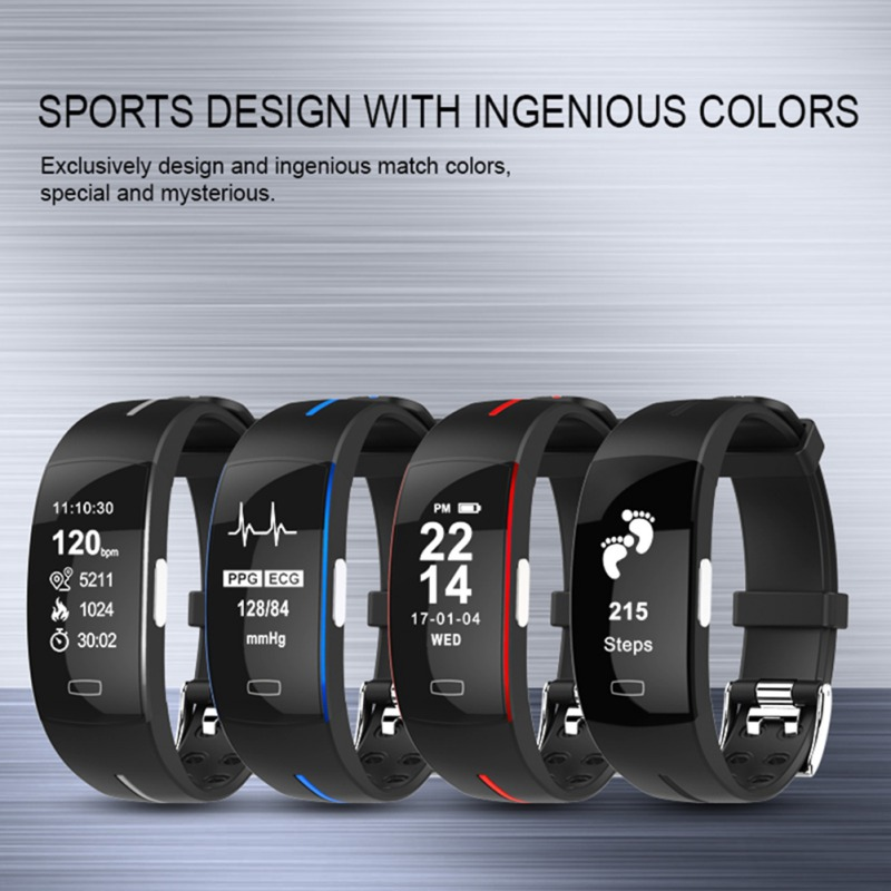 <font><b>P3</b></font> <font><b>Smart</b></font> <font><b>Band</b></font> ECG Monitor Blood Pressure Watch Real-time Heart Rate Sport Fitness Tracker <font><b>Smart</b></font> Bracelet for IOS Android image