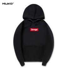 MIJKO Savage Hoodies Sweatshirt Hohe Qualität 1:1 Baumwolle Mit Langen Ärmeln Hoody Savage Mode Skateboard Suprem Hoodie Männer Frauen