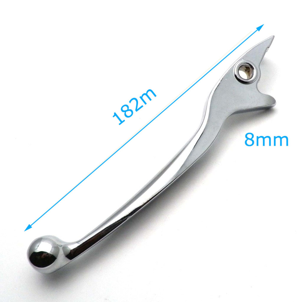 Chrome Left Disc Brake Lever Scooter Moped Handle Front ATV GY6 Tao Tao Length 7 inches