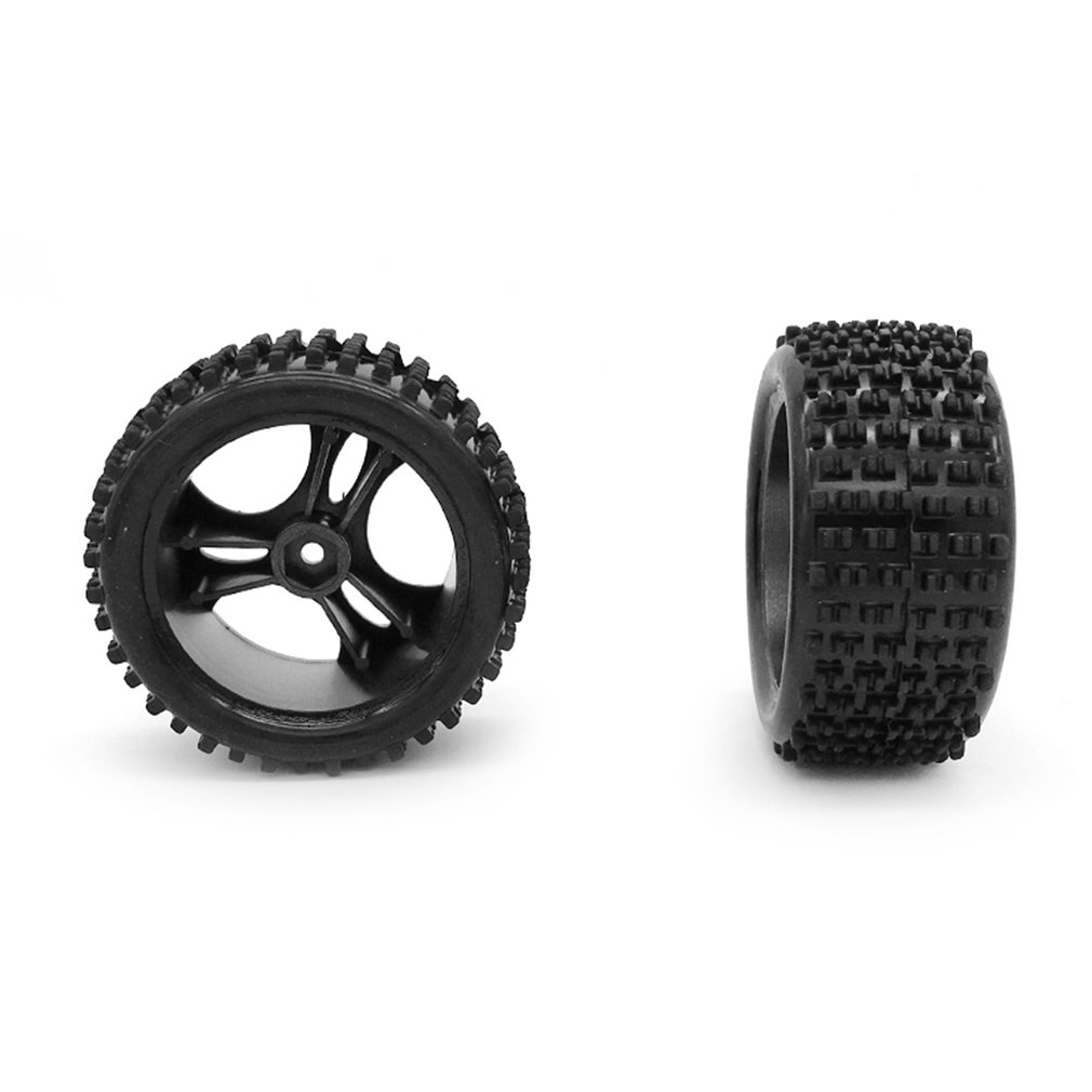 Rubber <font><b>RC</b></font> Racing Tires Metal <font><b>Wheel</b></font> Rim Vehicle Toy Spare Parts Truck <font><b>Wheel</b></font> Tires For Wltoys A959 <font><b>1</b></font>/<font><b>18</b></font> <font><b>RC</b></font> Crawler Car image