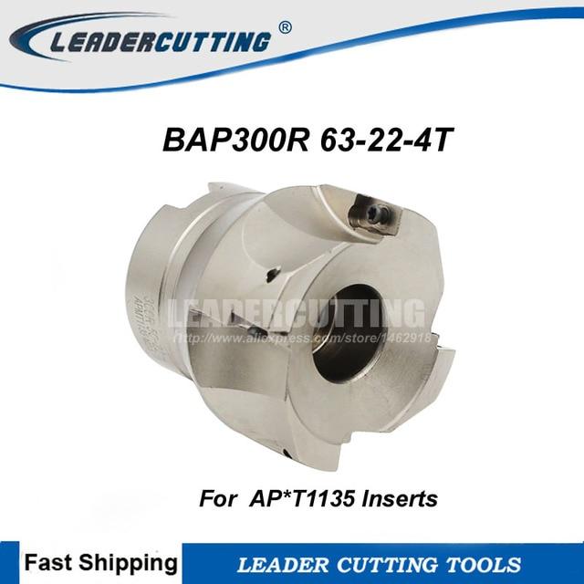 Frete Grátis ferramenta de Moagem Para APMT1135PDER BAP300R 63 22 4T, 90 Dregee BAP300R Face Moinho Cortador Ombro Para Fresadora