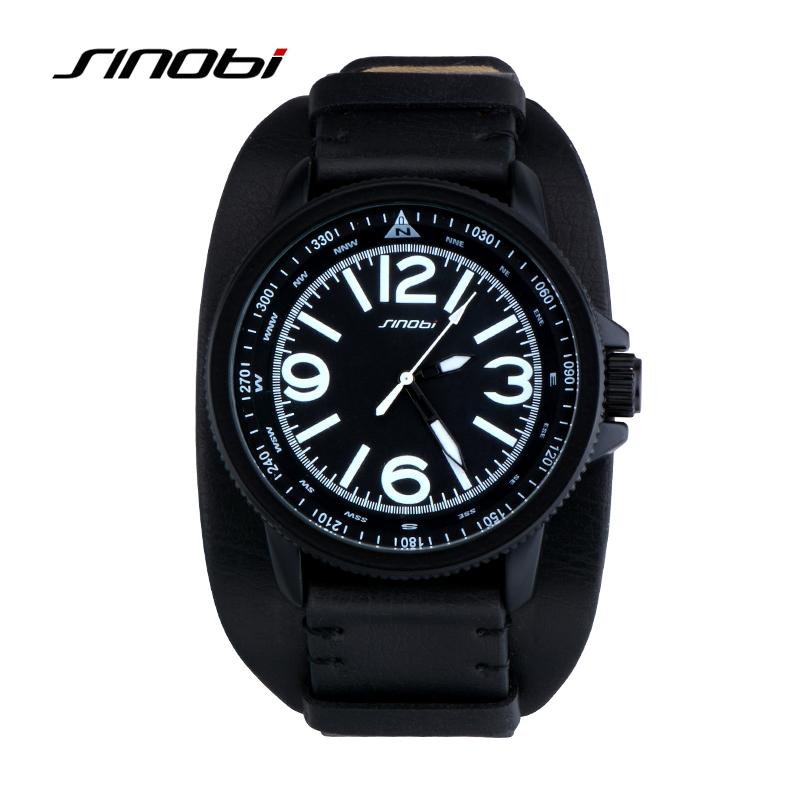 Prix pour SINOBI Mode Noir Inoxydable Complet Bracelet En Acier Relogio Mâle Horloge Hommes Montre-Bracelet À Quartz Sport Montre Étanche Montre Homme