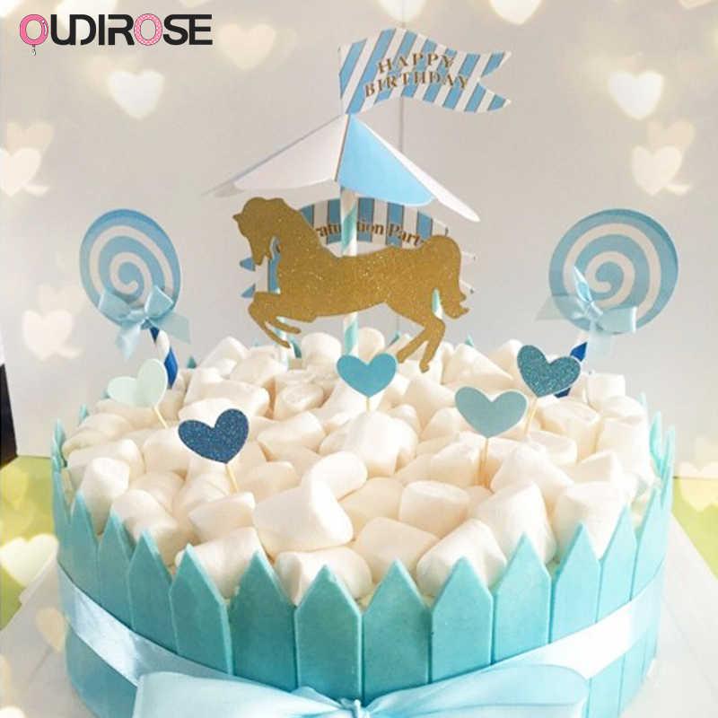 Amazing Birthday Girl Boy Party Decorations Carousel Theme Happy Birthday Birthday Cards Printable Benkemecafe Filternl