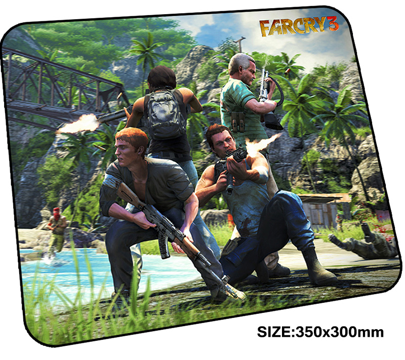 far cry mousepad gamer 350x300x3mm gaming mouse pad New arrival notebook pc accessories laptop padmouse thick ergonomic mat