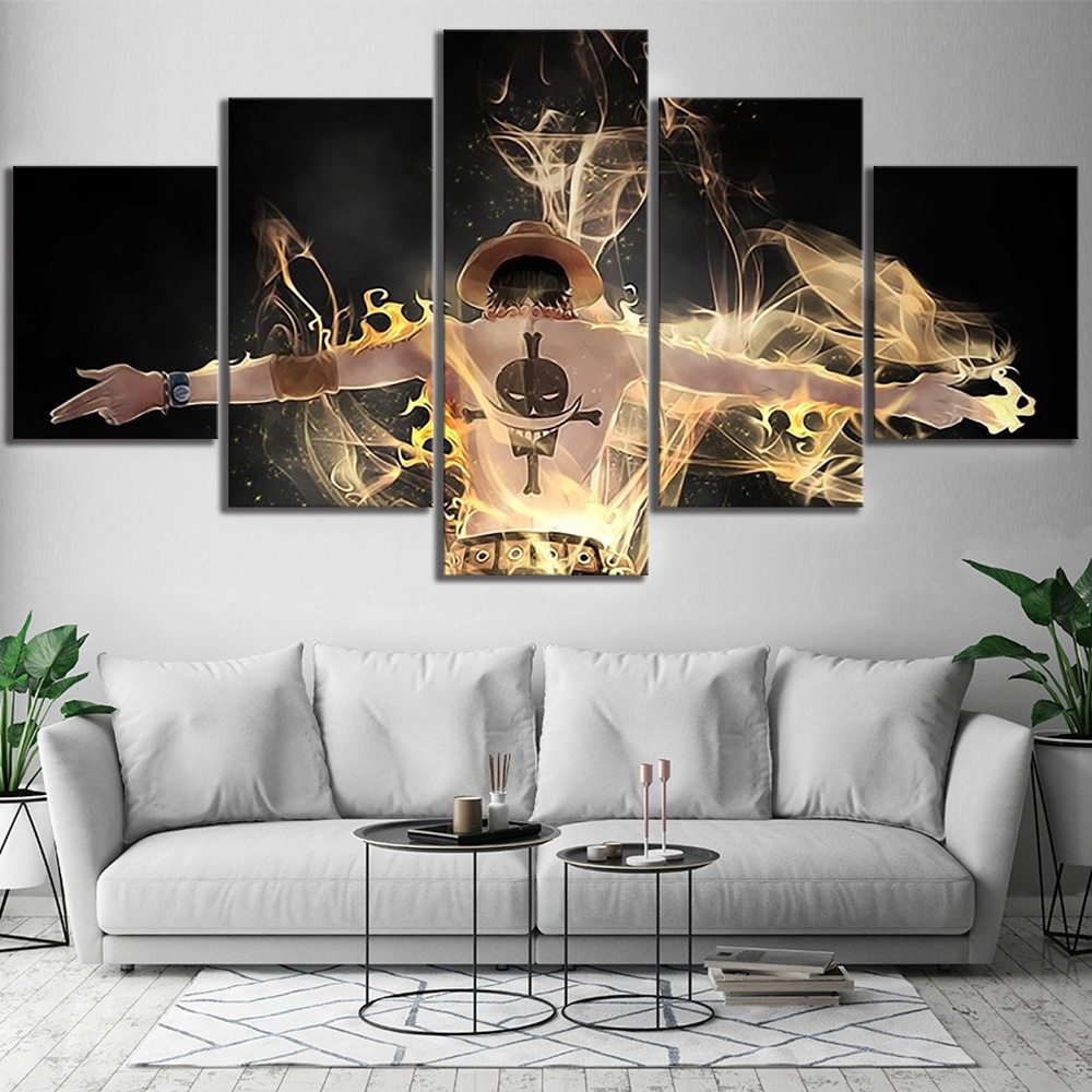 5pcs of One Piece Canvas Wall Art sureshopify