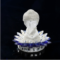 New Crystal Handmade Buddhist Monks Buddha Lotus Figurine Charms Car Interior Ornaments Car Accessories Multi color Safe Journey