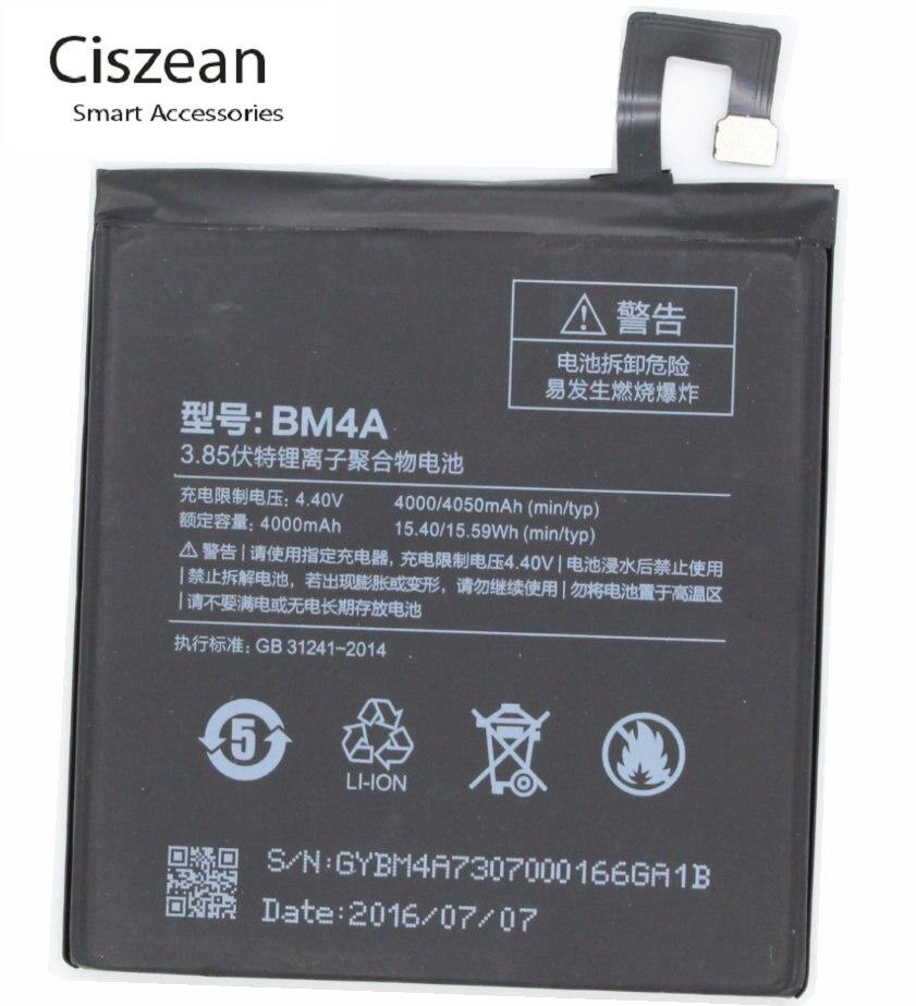Ciszean Replacement-Battery Batterie BM4A Redmi Accumulator Xiaomi 4000mah For Pro Hongmi