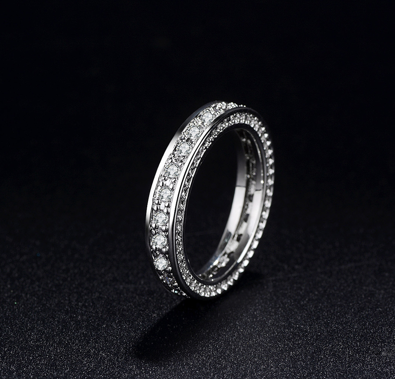 b5024a80b96a8 US $10.14 49% OFF|YHAMNI Original 100% 925 Solid Silver Rings For Women  Small CZ Surround Fashion Wedding Jewelry Luxury Rings Wholesale OJZ050-in  ...