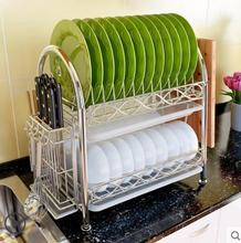 304 stainless steel bowl rack double deck chopsticks kitchen storage racks
