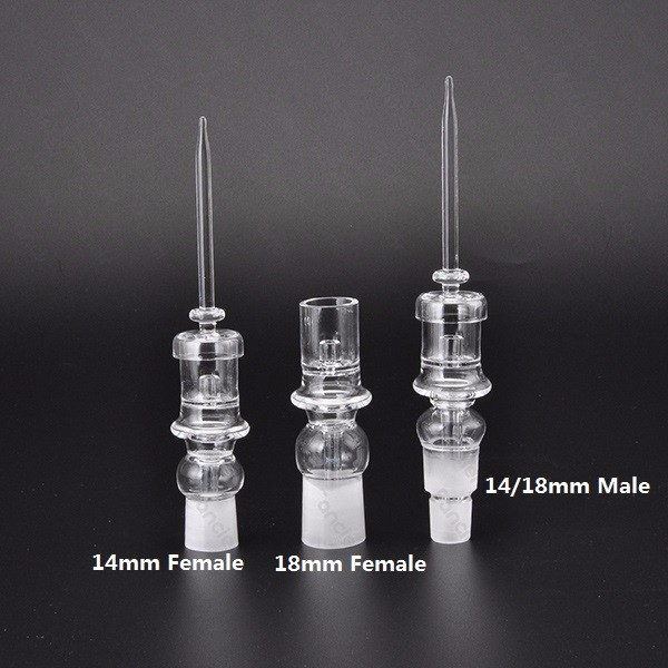 Quartz nail  14mm 18mm Male Female for heating coil for dabs dabber for glass bongs water pipe in stock 1