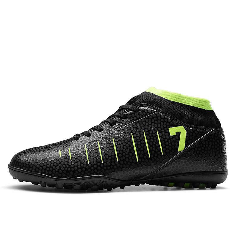 Fußball Stiefel Fußball Schuhe Neue Erwachsene herren Outdoor Fußball Stollen High Top TF/FG Ausbildung Sport Turnschuhe Große größe 33-45